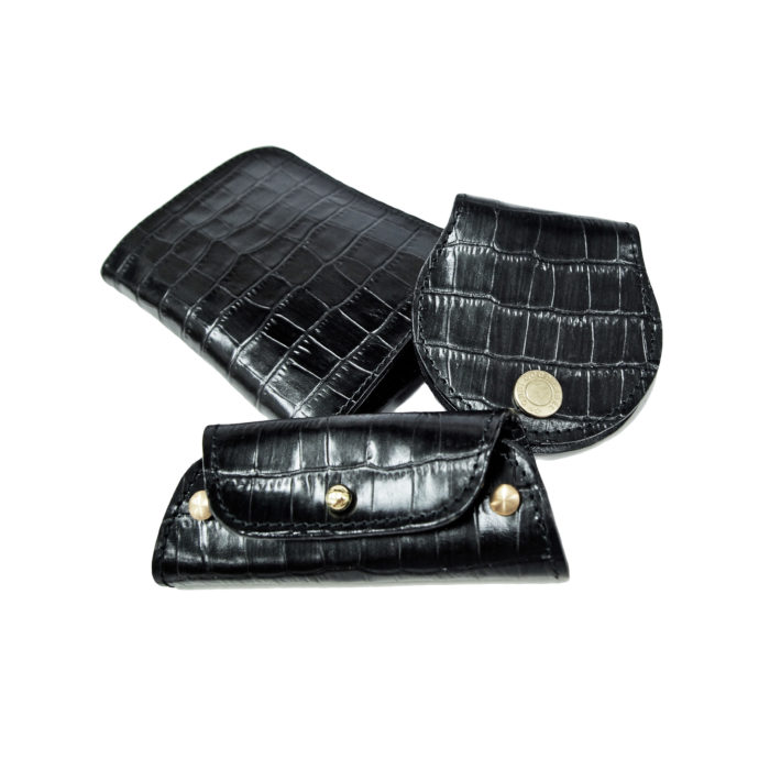 Brave Croc Emboss Cowhide Leather Wallet