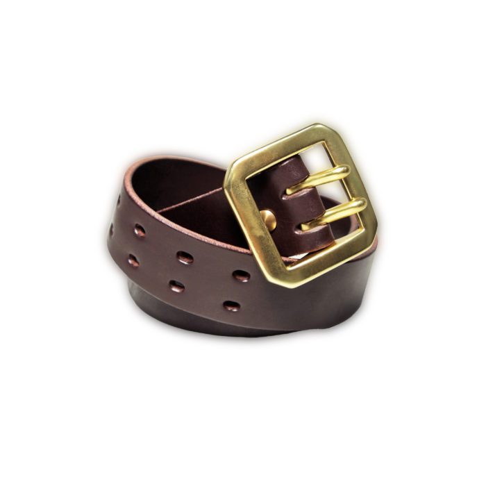 OGL BELT DOUBLE PRONG DARK CHOCO