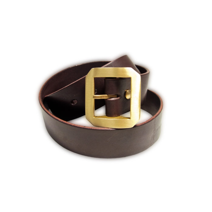 OGL BELT SINGLE PRONG DARK CHOCO