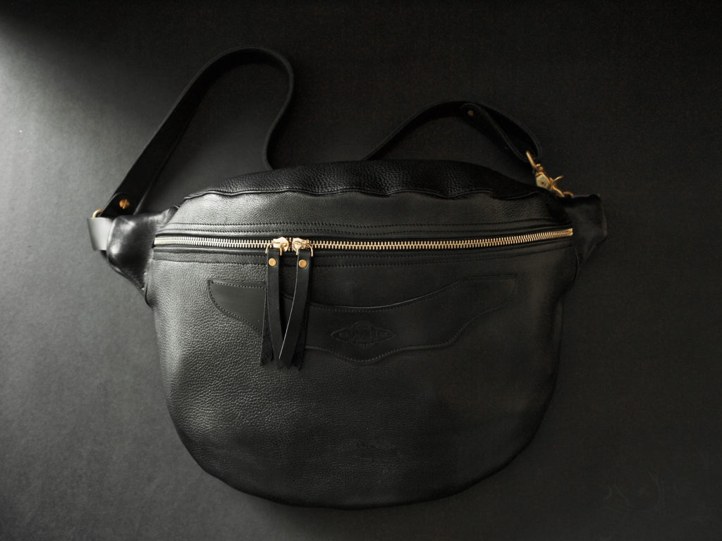 x-body leather shoulder bag