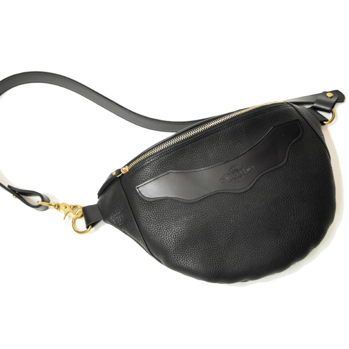 x-body leather baglette