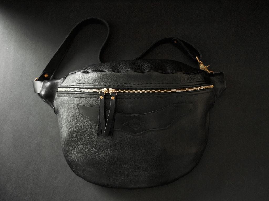 x-body leather shoulder bag